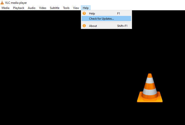 Check for vlc updates