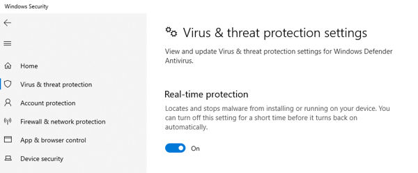 Disable Antivirus Program
