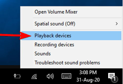 Playback devices option